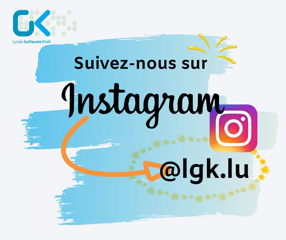 Nous sommes sur Instagram!