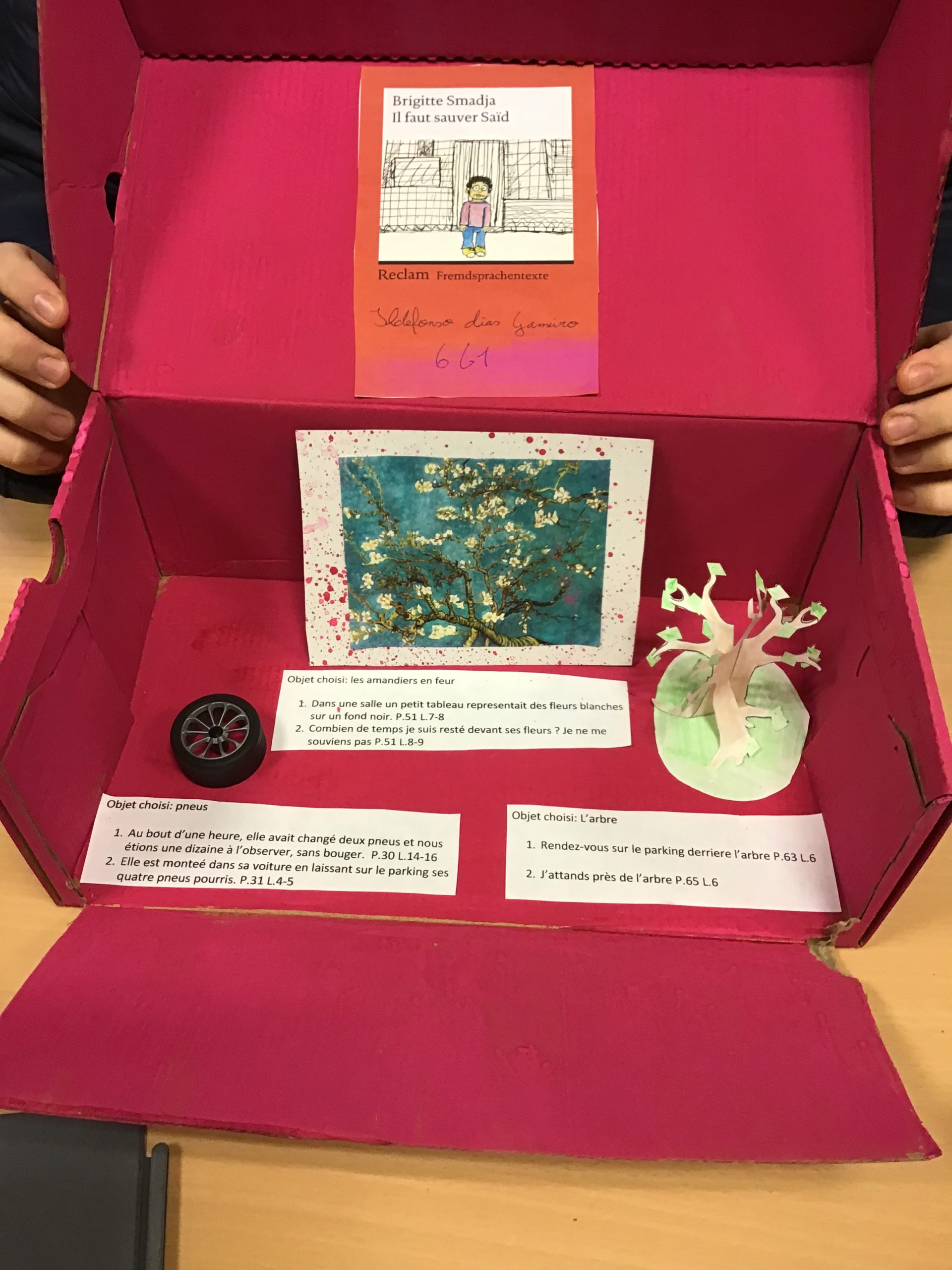 Projet « Book in a shoebox»