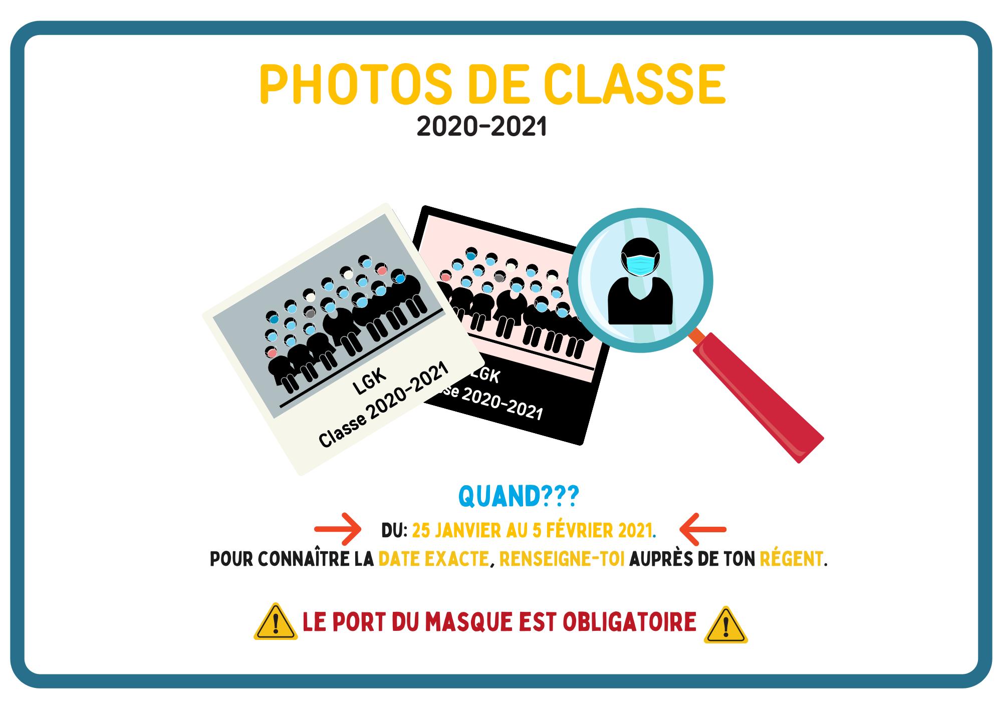 Photos de classe (2020-2021)