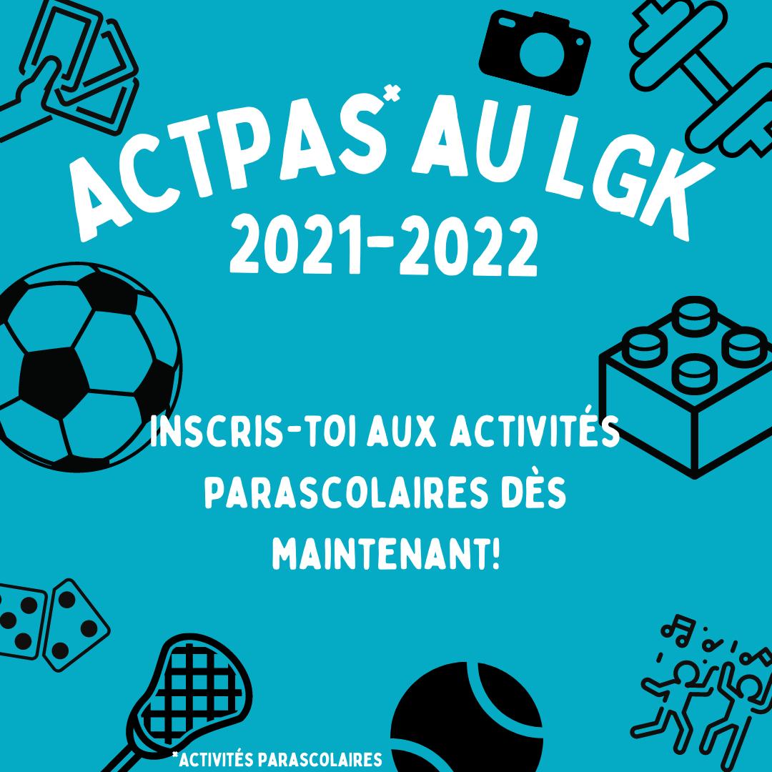 Inscriptions aux ACTPA
